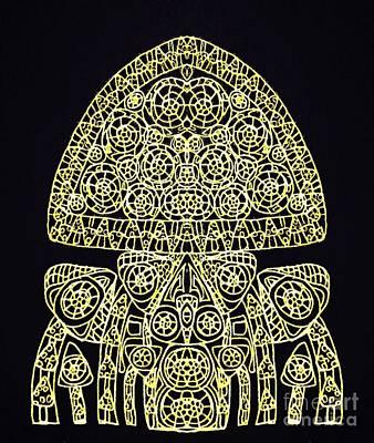 Hybrid Black Art Print by Sharon Bigland