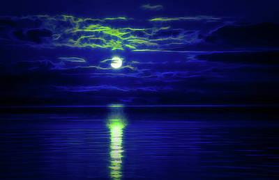 Glow In The Dark Amazing Sunset  Art Print