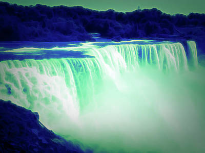 Photograph - Glow In The Dark Niagara Falls 12 by Aimee L Maher Photography and Art Visit ALMGallerydotcom