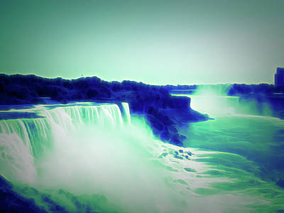 Photograph - Glow In The Dark Niagara Falls 4 by Aimee L Maher Photography and Art Visit ALMGallerydotcom