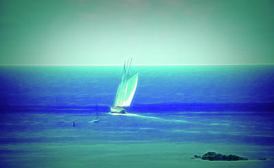 Photograph - Glow In The Dark Sail The Ocean Blue by Aimee L Maher Photography and Art Visit ALMGallerydotcom