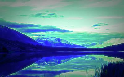 Photograph - Glow In The Dark Summit Lake Alaska by Aimee L Maher Photography and Art Visit ALMGallerydotcom