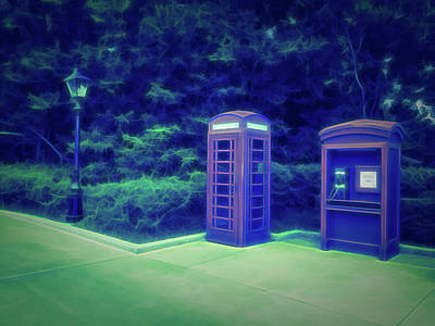 Photograph - Glow In The Dark Telephone Booth by Aimee L Maher Photography and Art Visit ALMGallerydotcom