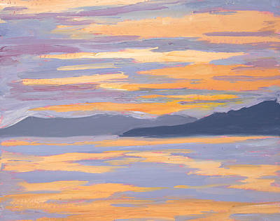 San Juan Painting - Glow by Mary Giacomini