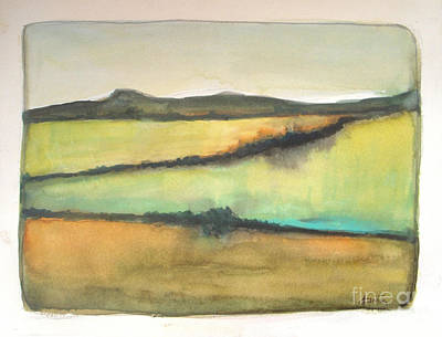 Semi-abstract Landscape Painting - Glow Of The Prairie by Vesna Antic