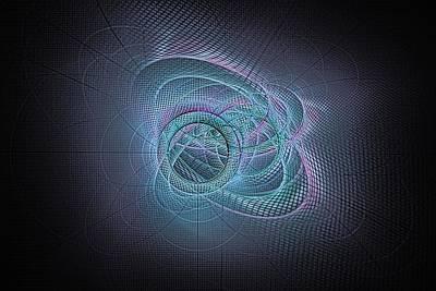 Digital Art - Glow Rings-2 by Doug Morgan