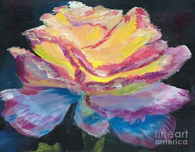 Glow Rose Art Print
