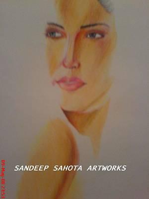 Alfred George Stevens Drawing - Glow by Sandeep Kumar Sahota