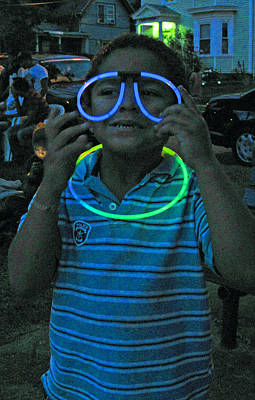 Photograph - Glow Stick Glasses by Barbara McDevitt