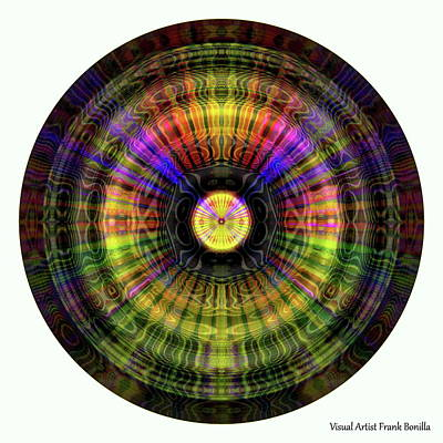 Round Digital Art - Glow Wheel Ten by Visual Artist Frank Bonilla