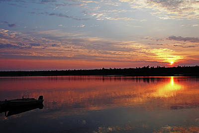 Photograph - Glowing Sunrise Thistle Island by Debbie Oppermann