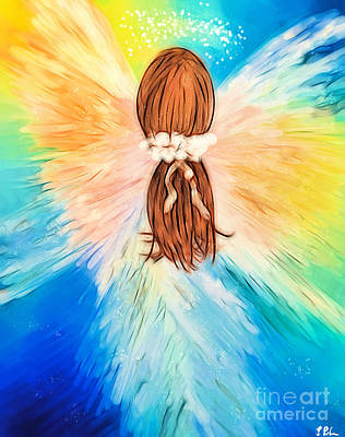 Painting - Glowing Angel by Tina LeCour