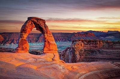 Destinations Photograph - Glowing Arch by Mark Brodkin Photography