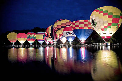 Glowing Balloons Art Print