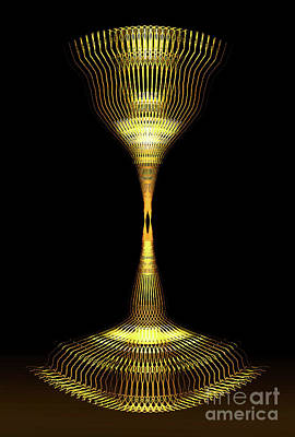 Digital Art - Glowing Brass Lamp Stand by James Fannin