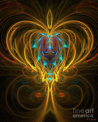 Digital Art - Glowing Chalise by Sandra Bauser Digital Art