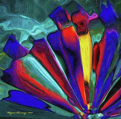 Glowing Chrystals Art Print by Wayne Bonney