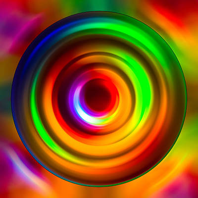 Photograph - Glowing Circles by  Onyonet  Photo Studios