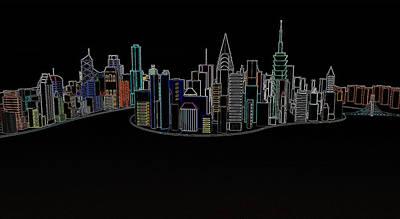 Glowing City Art Print by Thomas M Pikolin