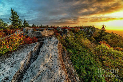 Photograph - Glowing Daybreak At Bear Rocks by Thomas R Fletcher