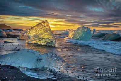 Photograph - Glowing Diamonds by Inge Johnsson