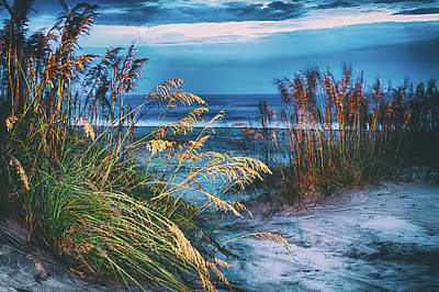 Art Print featuring the photograph Glowing Dunes Before Sunrise On The Outer Banks by Dan Carmichael