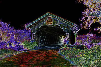 Glowing Edge Covered Bridge Art Print