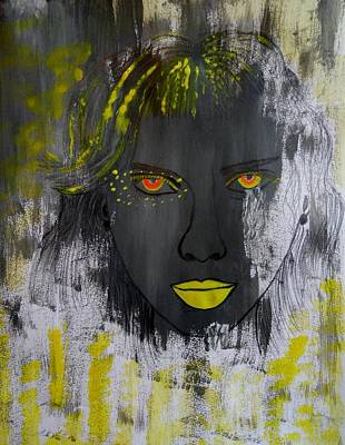 Painting - Glowing Eyes  by Nicole Burrell