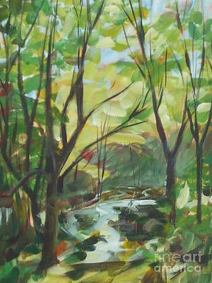 Painting - Glowing From The Flood by Claire Gagnon