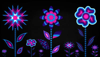 Digital Art - Glowing Garden 3 by Angelina Vick