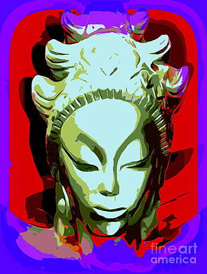 Digital Art - Glowing Goddess by Ed Weidman