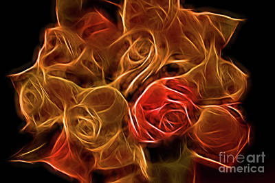 Glowing Golden Rose Bouquet Original