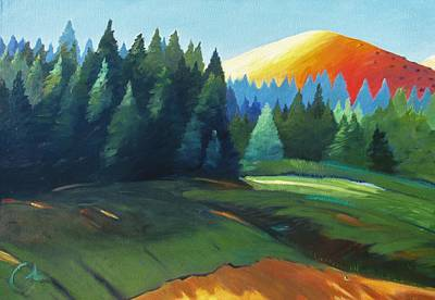 Windy Hill Painting - Glowing Hill by Gary Coleman