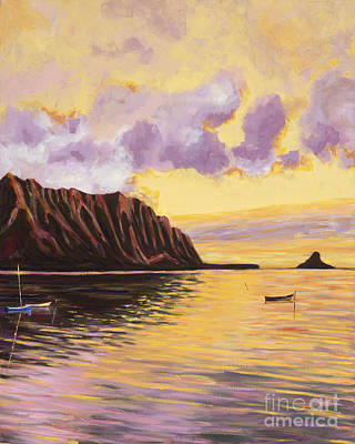 Rights Painting - Glowing Kualoa Diptych 2 Of 2 by Patti Bruce - Printscapes
