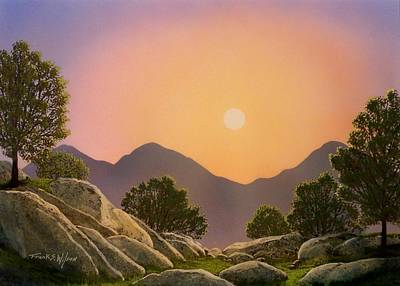 Painting - Glowing Landscape by Frank Wilson