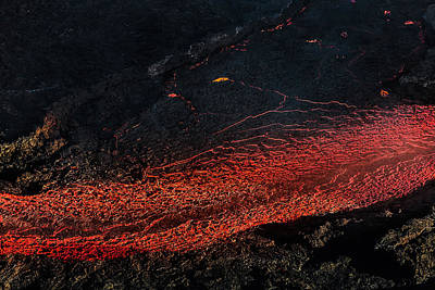 Magma Photograph - Glowing Lava And Plumes by Panoramic Images