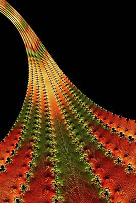 Digital Art - Glowing Leaf Of Autumn Abstract by Georgiana Romanovna