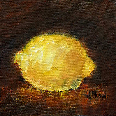 Painting - Glowing Lemon by Jill Musser