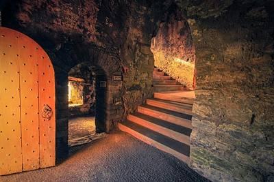 Glowing Light In Scalloway Castle Art Print by Anne Macdonald