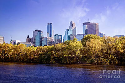 Photograph - Glowing Minneapolis by Scott Kemper