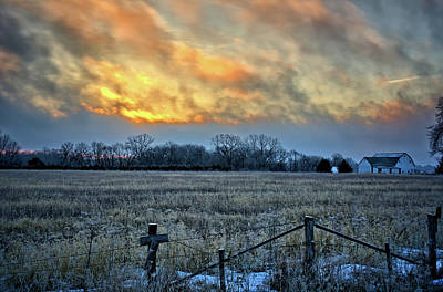 Photograph - Glowing Morning by Bonfire Photography