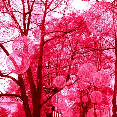 Photograph - Glowing Pink Trees by Linda Prewer