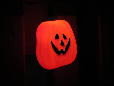 Photograph - Glowing Pumpkin by Kyle West