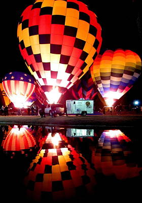 Hot Air Balloon Photograph - Glowing Reflection by Adrienne Wilson