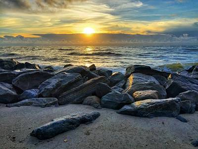 Photograph - Glowing Rocks by Juan Montalvo