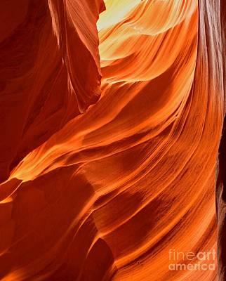 Photograph - Glowing Sandstone Swirls by Adam Jewell