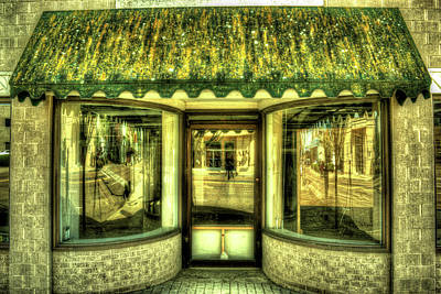 Glowing Store Front In Jackson Tennessee Art Print