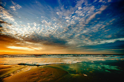 Photograph - Glowing Sunrise On Myrtle Beach by Anthony Doudt
