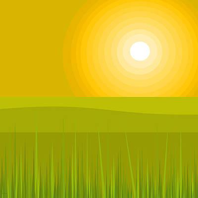 Digital Art - Glowing Sunshine by Val Arie