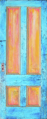 Landmarks Painting Royalty Free Images - Glowingthrough Door 2 Royalty-Free Image by Asha Carolyn Young